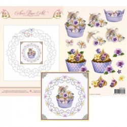 (3DCE2016)3D Card Embroidery Sheet 16 Cupcakes
