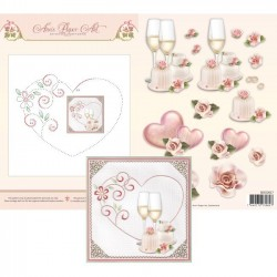 (3DCE2017)3D Card Embroidery Sheet 17 Heart