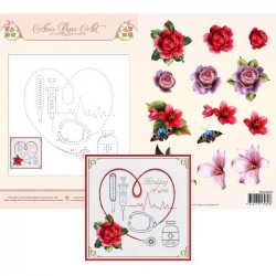 (3DCE2024)3D Card Embroidery Sheet 24 Medical