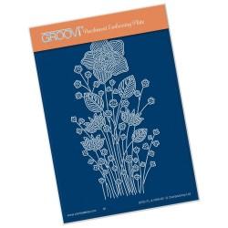 (GRO-FL-41469-02)Groovi® plate A6 TINA'S DAFFODIL FLOWER SPRAY
