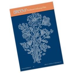 (GRO-FL-41472-02)Groovi® plate A6 TINA'S WILD FLOWER SPRAY