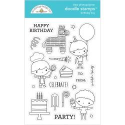 (6650)Doodlebug Design Birthday Boy Doodle Stamps