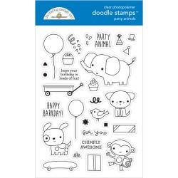 (6652)Doodlebug Design Party Animals - Boy Doodle Stamps