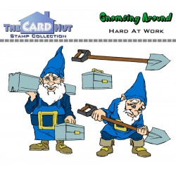 (GAHAW)The Card Hut Hard at Work Clear Stamps