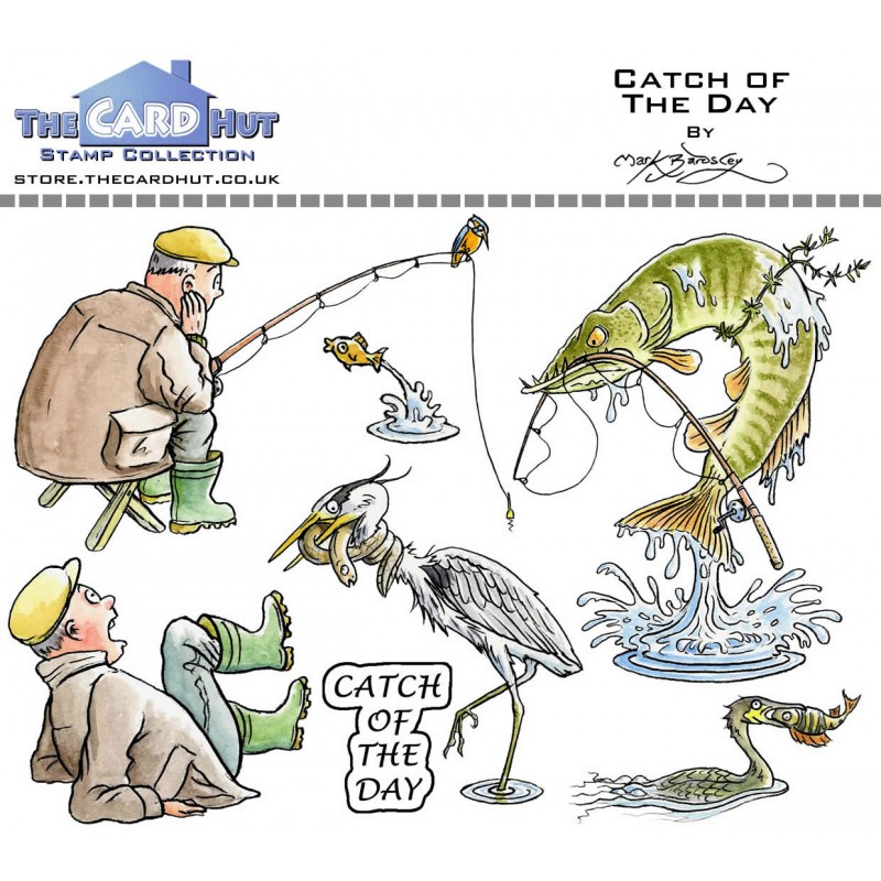 (MBOCOTD)The Card Hut Catch Of The Day Clear Stamps