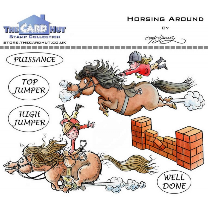 (MBPHA)The Card Hut Horsing Around Clear Stamps