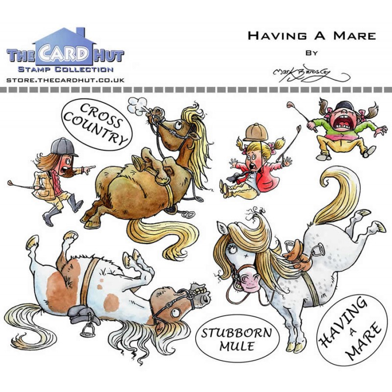 (MBPHAM)The Card Hut Having A Mare Clear Stamps