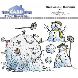 (MBWWSC)The Card Hut Snowman Capers Clear Stamps