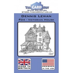 (CRDDL004)The Card Hut Victorian House Clear Stamps
