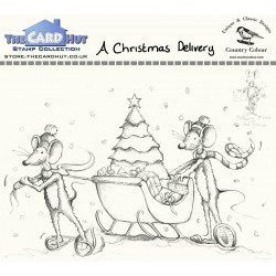 (CCMMACD)The Card Hut A Christmas Delivery Clear Stamps