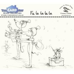 (CCMMFLLLL)The Card Hut Fa La La La La Clear Stamps