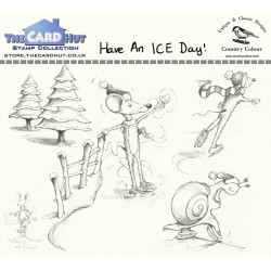(CCMMHAID)The Card Hut Have an ICE Day Clear Stamps