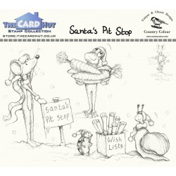 (CCMMSP)The Card Hut Santa's Pit Stop Clear Stamps