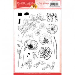 (PMCS10044)Clear Stamps - Precious Marieke Delicate Flowers