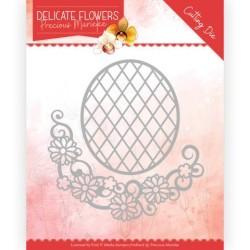 (PM10181)Dies - Precious Marieke Delicate Flowers - Delicate Flower Oval