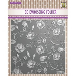 (EF3D011)Nellie's Choice Embossing folder Roses