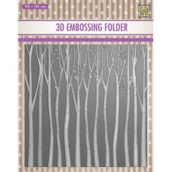 (EF3D013)Nellie's Choice Embossing folder Trees