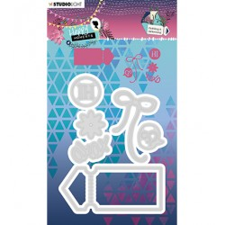 (STENCILHM291)Studio Light Cutting and Embossing Die Happy Moments nr.291