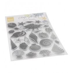 (CS1061)Clear stamp Colorfull Silhouette - Sea Shells