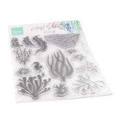(CS1062)Clear stamp Colorfull Silhouette - Coral