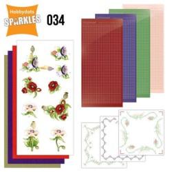(SPDO034)Sparkles Set 34 - Precious Marieke - Delicate Flowers - Poppy