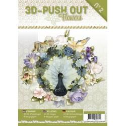(3DPO10002)3D uitdruk Book Flowers