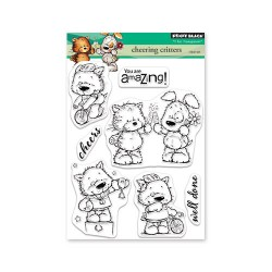 (30-549)Penny Black Stamp clear Cheering critters