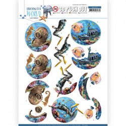 (SB10454)3D Push Out - Amy Design - Underwater World - Deepsea Diving