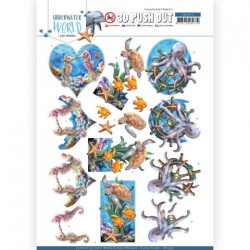(SB10455)3D Push Out - Amy Design - Underwater World - Sea Animals