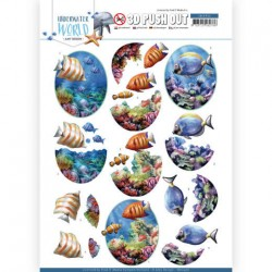 (SB10456)3D Push Out - Amy Design - Underwater World - Saltwater Fish