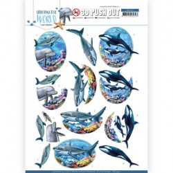 (SB10457)3D Push Out - Amy Design - Underwater World - Big Ocean Animals