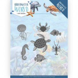 (ADD10212)Dies - Amy Design - Underwater World - Ocean Animals