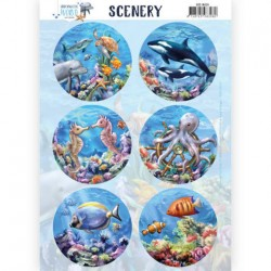(CDS10029)Push Out Scenery - Amy Design - Underwater World - Sea World