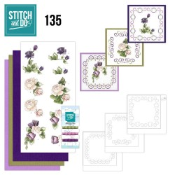 (STDO135)Stitch and Do 135 - Precious Marieke - Purple Flowers