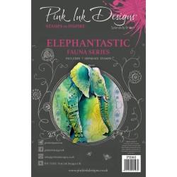 (PI060)Pink Ink Designs Clear stamp Elephantastic