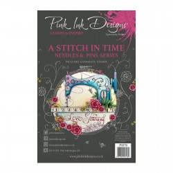 (PI070)Pink Ink Designs Clear stamp stitch a time