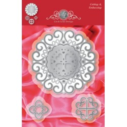 (1201/0076)Lin & Lene stencil set 4 pieces heart