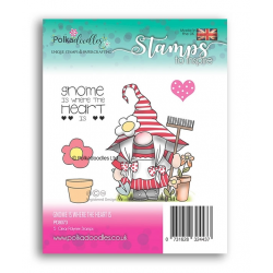 (PD8073)Polkadoodles Gnome is Where the Heart Is Clear Stamps