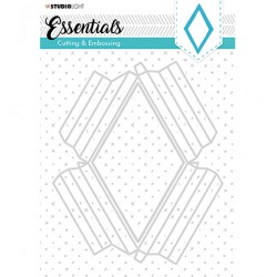 (STENCILSL295)Studio Light Cutting and Embossing Die, Essentials nr.295