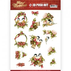 (SB10460)3D Push Out - Precious Marieke - Touch of Christmas - Birds