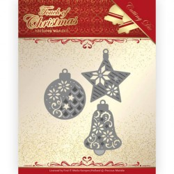 (PM10185)Dies - Precious Marieke - Touch of Christmas - Christmas Baubles