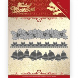 (PM10186)Dies - Precious Marieke - Touch of Christmas - Christmas Borders