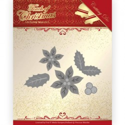 (PM10187)Dies - Precious Marieke - Touch of Christmas - Poinsettia