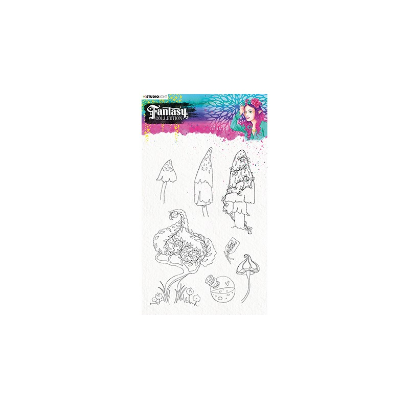 (STAMPFC477)Studio Light Clearstamp A5 Fantasy collection 3.0 nr.477