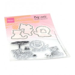 (ec0182)Clear Stamp Eline's Animals - big cats