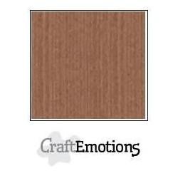 (001232/1275)CraftEmotions linen cardboard 10 Sh terra brown LHC-76 A4 250gr