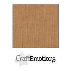 (001232/1270)CraftEmotions linen cardboard 10 Sh mocha LHC-28 A4 250gr