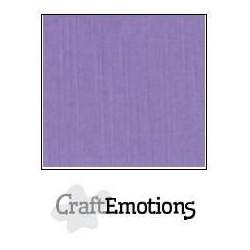 (001232/1120)CraftEmotions linen cardboard 10 Sh lavender LHC-20 A4 250gr