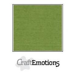 (001232/1010)CraftEmotions linen cardboard 10 Sh Moss LHC-45 A4 250gr