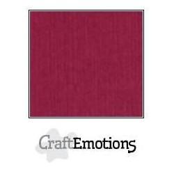 (001232/1190)CraftEmotions linen cardboard 10 Sh bordeaux LHC-25 A4 250gr